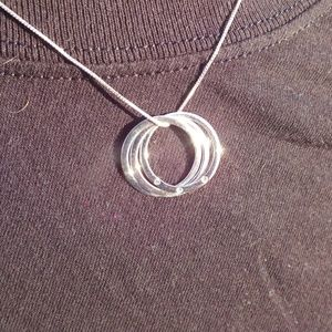 Sterling Silver Triple Circle Necklace Pendant